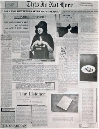 This Is Not Here (Original Advertisement). Yoko Ono, John Lennon