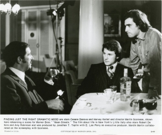 Mean Streets (Original still photograph from the 1973 film, Scorsese on the set). Martin...