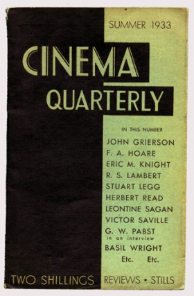 Cinema Quarterly (First UK Edition, 11 volumes). Norman Wilson, Forsyth Hardy, John Grierson...