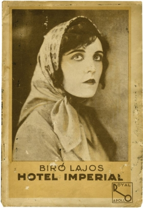 Hotel Imperial (First Hungarian Edition, photoplay screenplay edition). Lajos Biro