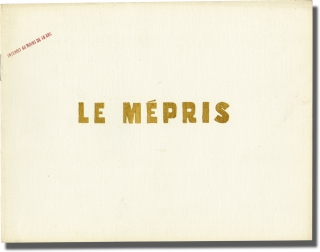 Contempt [Le Mepris] (Original French Program for the 1963 film). Jean-Luc Godard, Alberto...