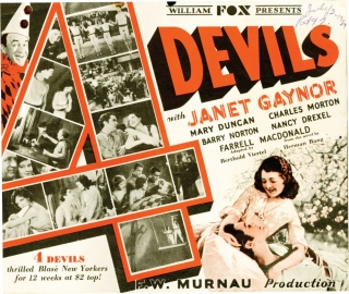 4 Devils [Four Devils] (Original herald from the 1928 film). F. W. Murnau, Janet Gaynor,...