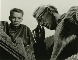 Through a Glass Darkly (Original Swedish still photograph from the 1961 film). Ingmar Bergman, screenwriter director, Sven Nykvist, still photographer, Lars Passgard. Gunnar Bjornstrand Max Von Sydow, Harriet Andersson, starring.