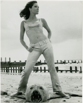 Diana Rigg in fashion promo shot for The Avengers