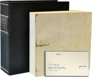 Grapefruit (First Edition, inscribed at the Judson Church Gallery opening, 1966). Yoko Ono, author