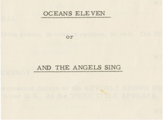Ocean's Eleven [11] [Oceans Eleven or And the Angels Sing]