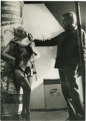 "Carl Boehm and Pamela Green on the set of ""Peeping Tom"" (Original photograph on the set at..."