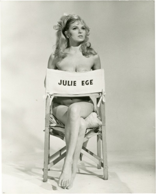 "Julie Ege test shots for ""Up Pompeii"" (3 photographs taken for the 1971 film). Bob Kellett,..."