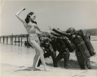 Thunderball (Original candid press photograph from the 1961 film). Terence Young, Ian Fleming,...