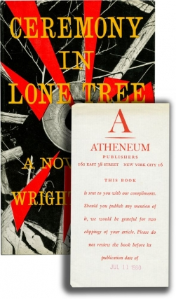 Ceremony in Lone Tree (First Edition, review copy). Wright Morris