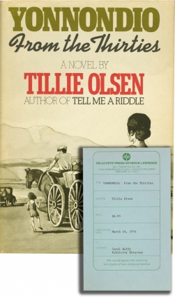 Yonnondio: From the Thirties (First Edition, review copy). Tillie Olsen