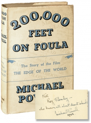200,000 Feet on Foula [The Edge of the World] (First UK Edition, inscribed by Michael Powell in...