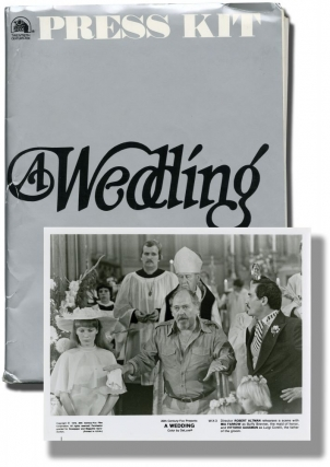 A Wedding (Press kit for the 1978 film, with 14 original photographs). Robert Altman, Carol Burnett Mia Farrow, Geraldine Chaplin, Howard Duff, Paul Dooley, director, starring.