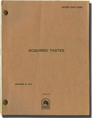 Acquired Tastes (Original screenplay for an unproduced film). Peter Gethers, David Handler,...