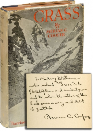 Grass (First Edition, inscribed by Merican C. Cooper). Merian C. Cooper.