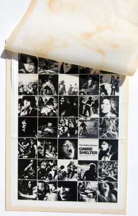 Gimme Shelter (Original maquette, proof, and final print of a variant poster for the 1970 film)....