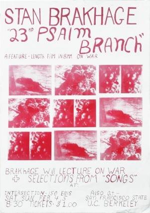 23rd Psalm Branch: A Feature-Length Film in 8mm on War (Original poster for a screening of the 1967 film). Stan Brakhage.