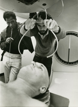 THX-1138 (Original oversize double weight candid photograph from the 1971 film). George Lucas,...