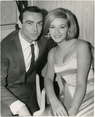 "Original press photograph for ""From Russia With Love"" Ian Fleming, Daniela Bianchi Sean Connery,..."