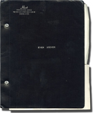 Even Steven (Original screenplay for an unproduced play). David Rogers, Clifford Hayman,...