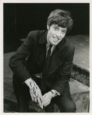 Vintage photograph portrait of Tom Stoppard, signed. Tom Stoppard, Martha Swope, photographer