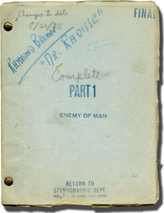 The Story of Louis Pasteur [Enemy of Man] (Original screenplay for the 1936 film, Raymond Brown's...