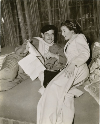 The Lady Eve (Original photograph of Preston Sturges and Barbara Stanwyck on the set of the 1941...