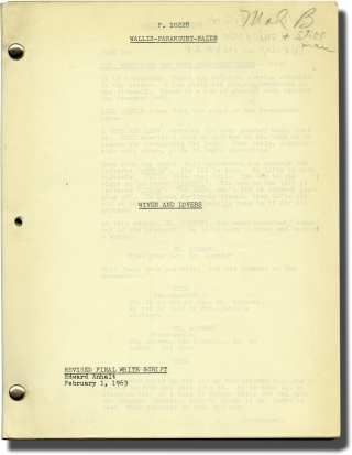 Wives and Lovers (Original screenplay for the 1963 film). John Rich, Edward Anhalt, Jay Presson...