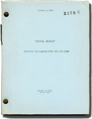 Immortal Sergeant (Original continuity and dialogue script for the 1943 film). John M. Stahl,...