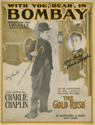 Collection of Charlie Chaplin related sheet music. Charlie Chaplin, Roy Barton William A. Downs, Edith Maida Lessing, Archie Gottler, Edgar Leslie, Roy Ingrahm, John Turner, Geoffrey Parsons, Jay Whidden, Gus Arnheim, Abe Lyman, Earl Burtnett.