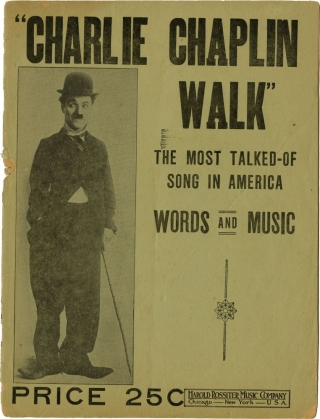 Collection of Charlie Chaplin related sheet music