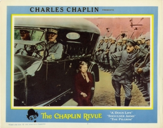 The Chaplin Revue (Lobby card for the 1959 film). Charlie Chaplin, Sydney Chaplin Edna Purviance,...
