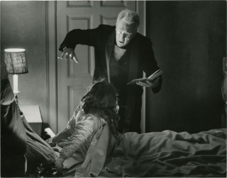 The Exorcist (Original oversize double weight still photograph from the 1972 film). William Friedkin, William Peter Blatty, Josh Weiner l., director, screenwriter novel, still photographer.