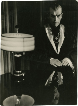 The Black Cat (Original oversize double weight still photograph from the 1934 film). Edgar J. Ulmer, Edgar Allan Poe, Roman Freulich, Bela Lugosi Boris Karloff, director, story, photographer, starring.