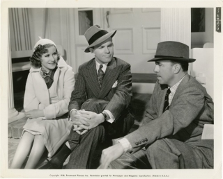 College Swing (Original photograph from the set of the 1938 film). Raoul Walsh, Bob Hope, Martha...