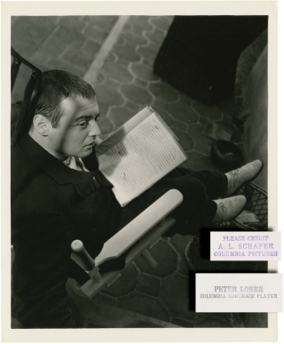 Crime and Punishment (Original candid photograph of Peter Lorre from the 1935 film). Josef Von...