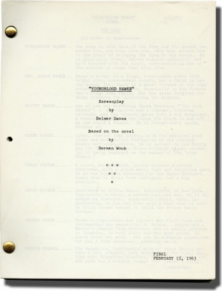 Youngblood Hawke (Original screenplay for the 1964 film). Herman Wouk, Delmer Daves, Suzanne...