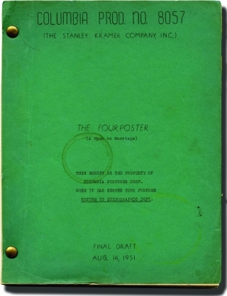 The Four Poster [A Hymn to Marriage] (Original screenplay for the 1952 film). Irving Reis, Allan...