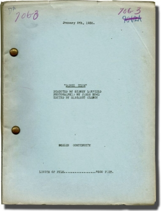 Dance Team (Post-production script for the 1932 film). Sidney Lanfield, Edwin J. Burke, Sarah...