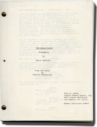 The Briar Patch (Original screenplay for an unproduced film). Decla Dunning, Charity Blackstock,...