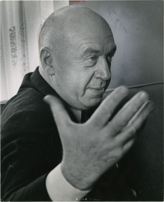 "Otto Preminger talks about ""The Cardinal"" (Original press photograph for the 1963 film). Otto..."
