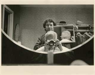Andre Kertesz: Self portrait #2: Barber Shop Mirror