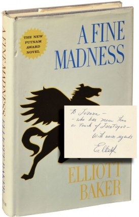 A Fine Madness (Hardcover, inscribed studio file copy). Elliott Baker