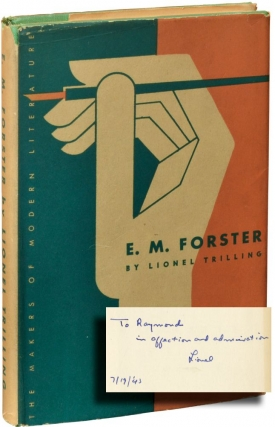 E.M. Forster (Signed First Edition). E. M. Forster, Lionel Trilling.
