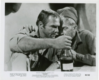 Shark (Collection of 5 stills from the 1969 film). Samuel Fuller, Burt Reynolds, director, starring