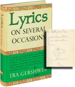 Lyrics on Several Occasions (First Edition, inscribed with a drawing). Ira Gershwin