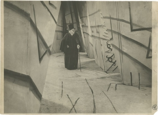 The Cabinet of Dr. Caligari (Original oversize double weight photograph from the 1920 film)....