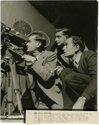 Oliver Twist (Original photograph of David Lean, Oswald Morris, and Guy Green on the set of the...