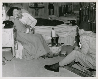 Unfaithfully Yours (Original photograph from the set of the 1948 film). Preston Sturges, Rex...