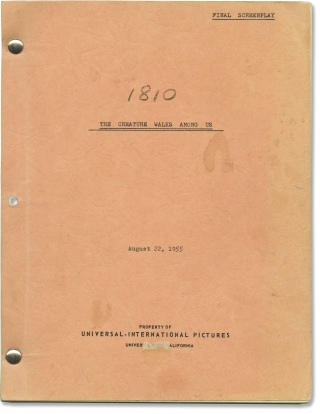 The Creature Walks Among Us (Original screenplay for the 1956 film, script supervisor's copy)....